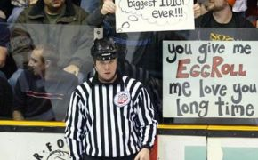 Hockey referee sign