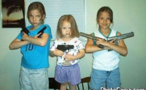 Kids playing with guns