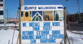 We install more wood than tiger