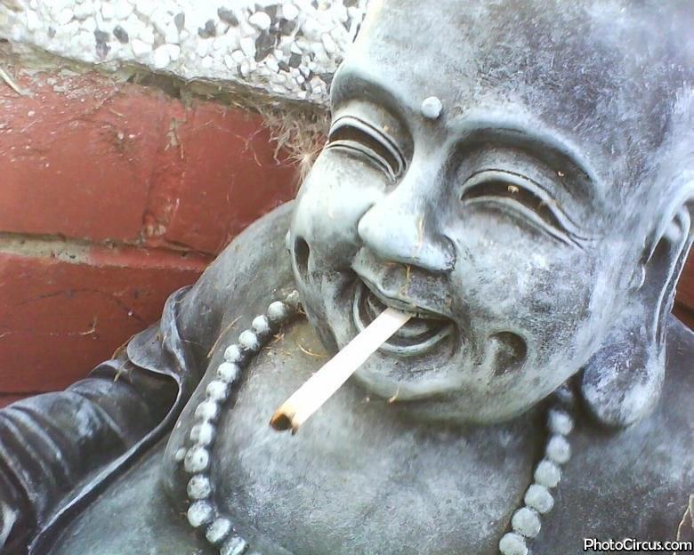 A Buddha With A Cigarette Photo Circus